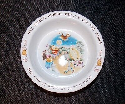 1984 AVON CHILD Kid BOWL Dish WITH NUSERY RYHME HEY, DIDDLE, DIDDLE