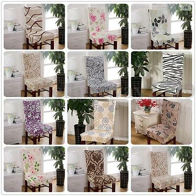 12 Style Removable Elastic Stretch Slipcovers Short Dining Room Chair Seat Cover