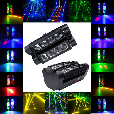 8x3W RGBW LED DMX512 Spider Beam Moving Head Stage Lighting DJ Disco Party Light