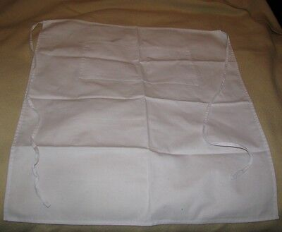 3 White Bistro Royal Co Apron one wide pocket w/divide Made in USA NEW Chef LOT