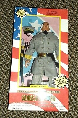 Soldiers of the World Civil War Doll/Weapons Commander Navy MIB 1997   L@@K