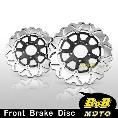 Suzuki SV 1000 S 2003 2004 2005-2007 Front Stainless Steel Brake Disc Rotor Pair