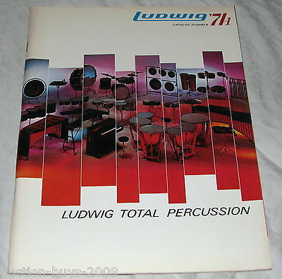 LUDWIG '71-1 Catalog 1971 Drums Percussion - Nice