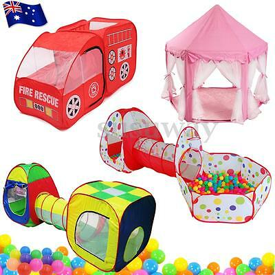 Portable Kids Indoor Outdoor Pop Up Play Tent Tunnel Castle House Ball Pit Toy