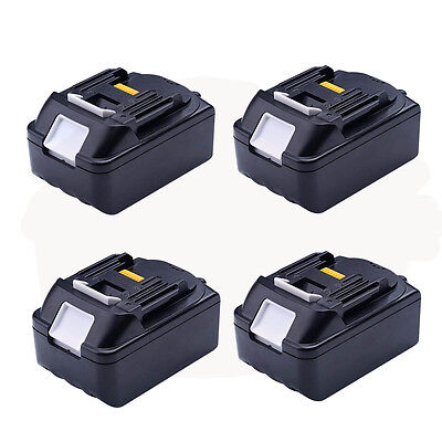 4pcs For Makita 3.0Ah 18V BL1830 BL1815 LXT Lithium Ion Battery Heavy Duty