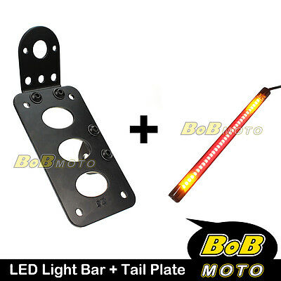 Tail Number Plate LED Stop & Signal Light Strip For Harley Softail Fat Boy FLSTF