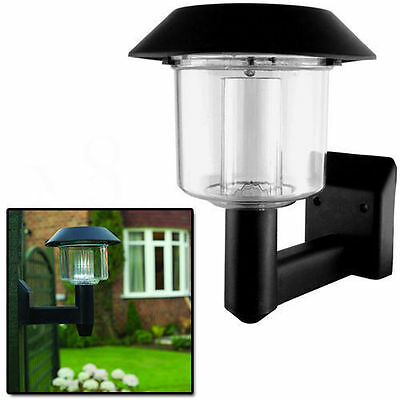 Outdoor Garden Path Landscape Fence Yard Lamp Solar Powered Wall Mount LED Light