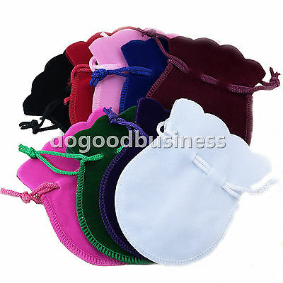 Oval Gourd Velvet Drawstring Gift Jewellery Pouches Deluxe Quality Material Bags