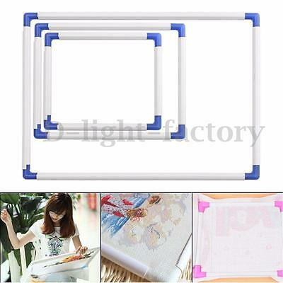 Cross Stitch Embroidery Frame Plastic Holder Hoops Stand Needle Sewing DIY Craft