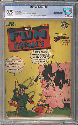 More Fun Comics # 103  Superboy, Green Arrow ! CBCS 0.5 scarce Golden Age book !