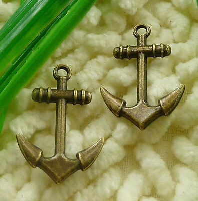 Free Ship 30 pieces Antique bronze anchor charms 29x20mm #2140