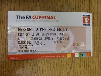 21/05/2005 Ticket: FA Cup Final, Manchester United v Arsenal [At Millennium Stad
