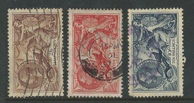 Great Britain 1934  KGV SEAHORSE  SET (Fine Used) Sg 450-2 (NUMBER 1)