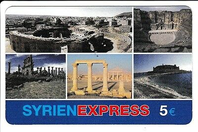 Europe  Telecarte / Phonecard .. Allemagne 5€ Syrien Express Syrie Syria Art +N°