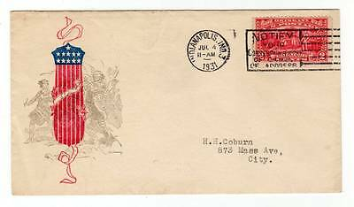 1931 Patriotic Cover ~ US # 644 ~ July 4th