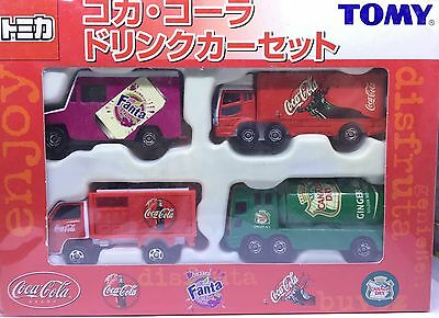 Japan Tomy Tomica Box Set Coca Cola Truck Fanta Canada Dry Truck Diecast