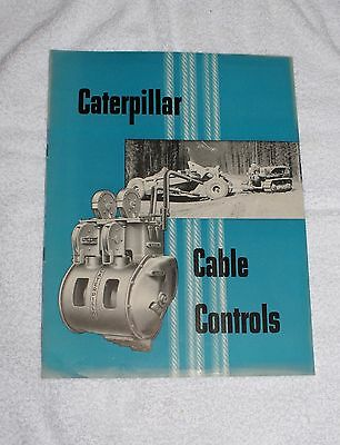 1953 Caterpillar Diesel Tractor Cable Controller Advertising Sales Brochure