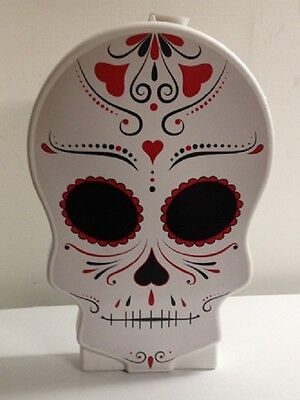 "28"" Day of the Dead Skull Blow Mold General Foam Halloween Decoration"