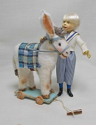 Dolls House Miniature Artisan Handmade Ride On DONKEY by V. Lux