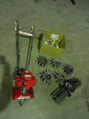 Mantis Petrol Rotovator With Attachments