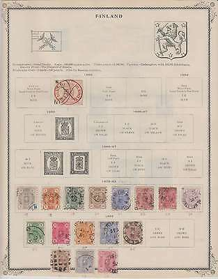 B7949: 19th C Finland Stamp Collection; CV $1416