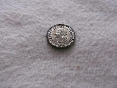 Colombia  5 Centavos 1902  1 Year Type  Silver Coin Km#191    Rdz1073
