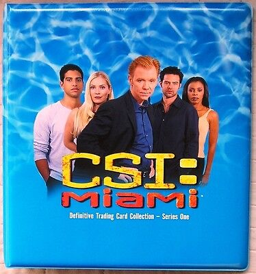 CSI Miami Series 1 Trading Card Binder from Strictly Ink - New