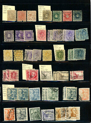 Spain Nice collection of 68 stamps Used - great value