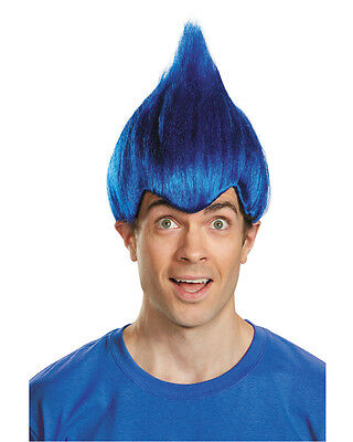 Adult's Pointy Wacky Troll Inside Out Dark Blue Wig Costume Accessory