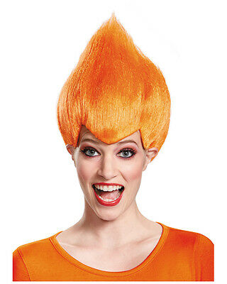 Adult's Pointy Wacky Troll Inside Out Orange Wig Costume Accessory