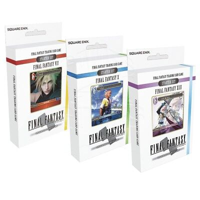 Final Fantasy VII X XIII Trading Card Game Deutsch Kartenspiel Starter-Sets OVP