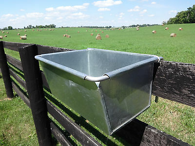 Vintage Horse Farm Trough Fence Line Feeder Metal Barn Stable Animals/garden