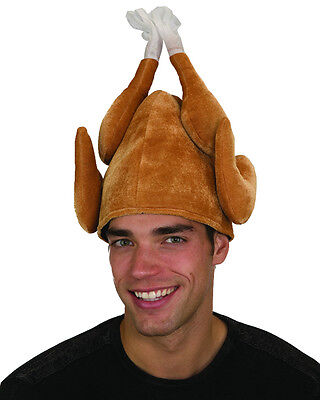 Funny Plush Stuffed Roasted Turkey Thanksgiving Party Hat Cap Costume Accessory