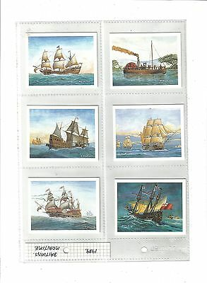 Britain's Maritime History.Issued by Players(Tom Thumb) 1989.Full set of 30