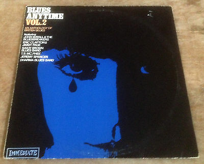 BLUES ANYTIME VOL.2 various 1968 UK IMMEDIATE VINYL LP MAYALL*CLAPTON*JIMMY PAGE