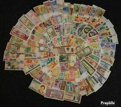 all World 100 different bankfrische Banknotes out numerous Countries