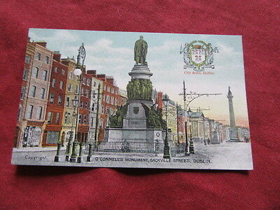 VINTAGE IRELAND: DUBLIN O'connell's monument crested colour tint