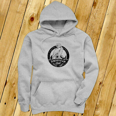 AMERICAN SPIRIT EAGLE USA UNITED PATRIOTIC PRIDE Mens Gray Hoodie