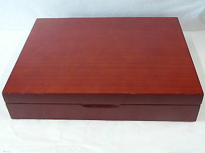 Mahogany Colored Silver Chest Very Clean Service For 12