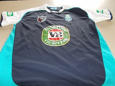 Nsw Blues - Official State Of Origin Training Shirt- Large - See Desc For Sizing