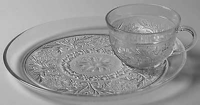 Anchor Hocking SANDWICH CLEAR Snack Plate & Cup 6973891
