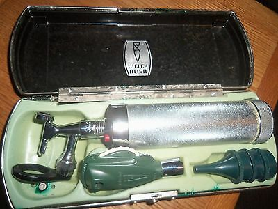 Vintage 1950's Welch Allyn Physician Otoscope In Bakelite Case ENT/Vision Works