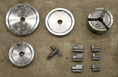 "3-Jaw Chuck Kit fits 1"" Arbor Shaft 4000 4100 QuickChuck Quick Ammco 1-Ton"