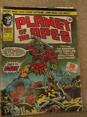 Marvel Comic Planet Of The Apes No 22 March 22Nd 1975