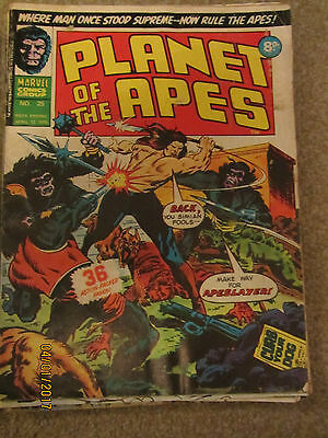 Marvel Comic Planet Of The Apes No 25 April 12Th 1975