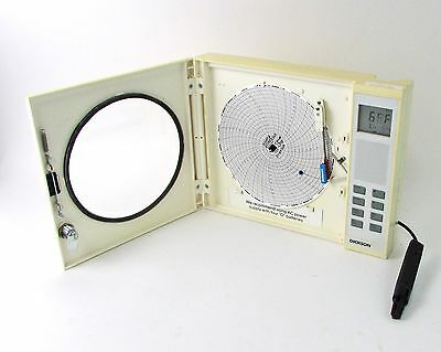 """8"""" Dickson THDX Temperature & Humidity Chart Recorder w/ Probe - Partial Display"""