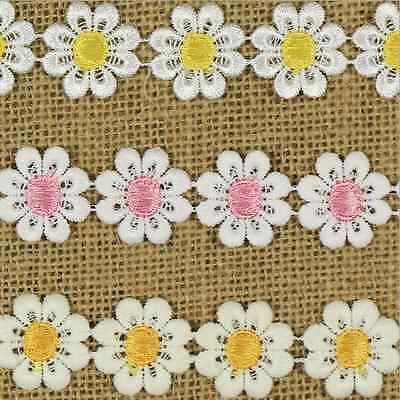 5 Yards flowers Crochet embroidery Lace Trim Wedding Bridal Ribbon Sewing