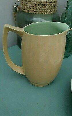 Branksome pottery Sahara and Forest Art Deco large green jug