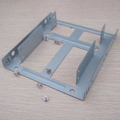 """Dual 2.5"""" SAS SATA SSD laptop HDD to 3.5inch size hard drive Cage Tray Caddy"""