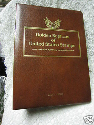 22k Gold US Stamp Replicas First Day Issue Dec. '93 - April '94 + empty sleeves